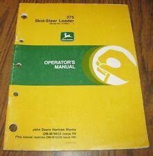 John Deere 375 Skid Steer Loader 1989 Operators Owners Manual  jd  s/n  010001 -