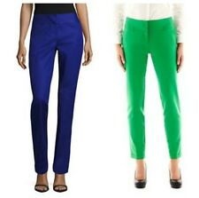 Women's Worthington Slim Fit Slim Leg green or Blue Cuffed Ankle Pants 10 12 14