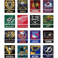 "New Northwest NHL Large Soft Fleece Throw Blanket 50"""" X 60"" 16 Teams Available"