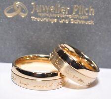 Ein Paar Trauringe Eheringe Gold 333, 585, 750 oder Silber 925 mit Außengravur