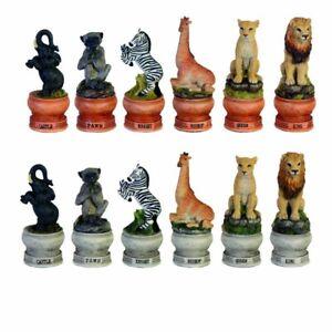 Schachfiguren Wildlife (ohne Schachbrett)