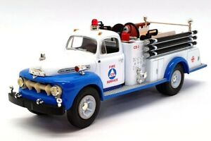 First Gear 1/34 Scale 19-1967 - 1951 Ford F-7 Fire Truck - Civil Defence