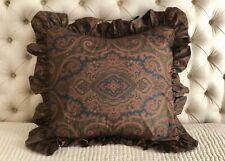 Great! Vintage Ralph Lauren Brianna Paisley Ruffled Custom Euro Pillow Sham