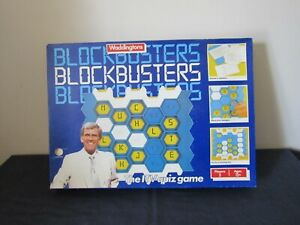 BLOCKBUSTERS THE TV QUIZ GAME BY WADDINGTONS 1986 SPARE PARTS ( CHOOSE ).