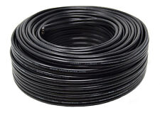 12 Gauge 100' Feet Black Stranded Speaker Wire 2 Conductor Zip Cord Cable