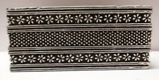 WOODEN HAND CARVED TEXTILE PRINTING FABRIC BLOCK STAMP FLORAL LINE DOTTED DESIGN