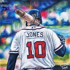 """005 Chipper Jones - MLB American Baseball Stars 14""""x14"""" Poster"""