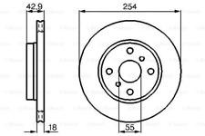 2x Bremsscheibe für Bremsanlage Vorderachse BOSCH 0 986 478 585