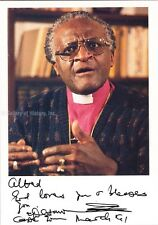 BISHOP DESMOND TUTU - INSCRIBED PHOTOGRAPH SIGNED 3/1991