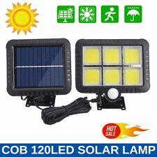 120 светодиодные уличные садовые светодиодные солнечные лампы прожектор пассивный инфракрасный датчик движения настенный свет