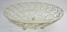 New Cream Metal Basket for Fruit or Vegetables Rustic French Provincial Style