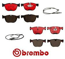 For BMW E70 E71 X5 X6 Front and Rear Ceramic Brake Pads with Sensors Kit Brembo