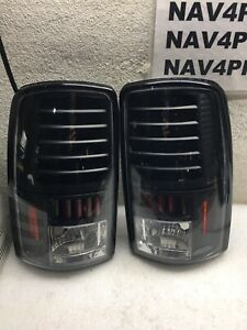 2000-2006 Chevy Tahoe Suburban GMC Yukon Black LED Tail Light Pair #T274