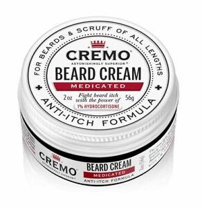 Cremo Beard & Scruff Medicated Cream - 2oz Beard Cream Anti Itch Formula