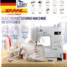 Uten Nähmaschine mit 60 Nähprogrammen LED Freiarm Computernähmaschine Elektronik