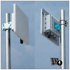 2*Pluto_R5820AN 5.8G 300M WiFi Wireless Outdoor AP Bridge PoE mimo 20dBi Antenna
