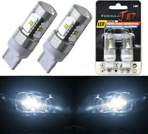 LED Light 30W 7440 White 5000K Two Bulbs Rear Turn Signal Replace Lamp Fit