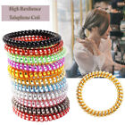 1PC Girls Solid Telephone Wire Hair Ring Spiral Elastic Ties Rubber Band Rope