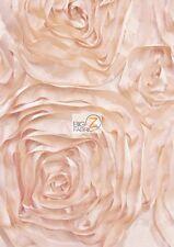 ROSETTE STYLE TAFFETA FABRIC - Blush - SOLD BY THE YARD WEDDING DRESS DECOR