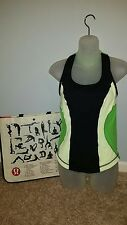 LULULEMON TANK TOP WITH BUILT IN SPORTS BRA SIZE 6