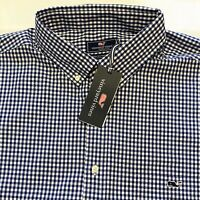 NWT $98 Mens VINEYARD VINES size XLT Long Sleeve Shirt Classic Tucker XL Tall