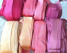 "Vintage Rayon Silk 1"" Ribbon 1920s 1yd  Made in France"