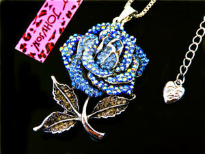 Pendant Betsey Johnson Jewelry  crystal Flowers chain fashion necklace hot