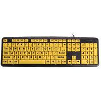 USB Big letters Yellow button Elderly keyboard ED