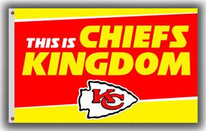 Kansas City Chiefs KINGDOM Football Team Memorable Flag 90x150cm3x5ft Fan banner