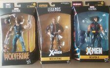 Marvel Legends X-Men Wolverine, Cowboy Logan, Weapon X, Lot of 3 NIB
