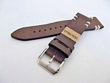 cinturino artigianale vera pelle italia fibbia acciaio ansa 22 mm watch strap