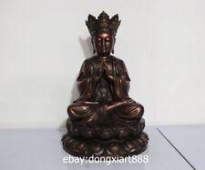 16 Tibet Buddhism Pure Bronze Mah vairocana Vairochana Bodhisattva Buddha Statue