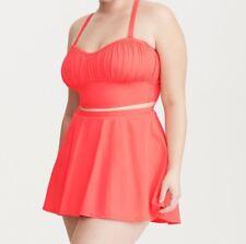Torrid Ruched Bikini Top Coral 0X Large 12 #33343
