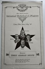 International Brotherhood Of Magicians 3Rd Annual Convention Program - 1928
