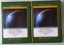 great courses ZERO TO INFINITY : A HISTORY OF NUMBERS part 1 & 2 DVD 4 disc set