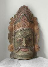 Large antique 19th century temple dance mask INDIA