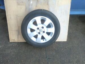 Vauxhall corsa c Alloy Wheel And Excellent Firestone 195/60r15 Tyre 7mm of tread