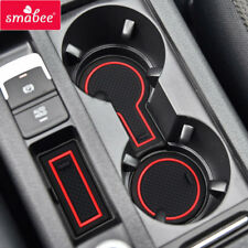 for VW Golf7 MK VII gti 2013-2016 Gate slot mats Accessories,3D Rubber Mat 9pcs