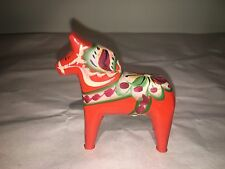 Nils Olsson Hand Painted Wood Horse Made In Sweden