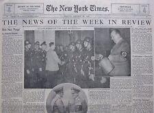 HITLER SPEEDS UP REVOLUTION GOERING DR. SCHACHT - CHINA PURGE 1939 January 1939