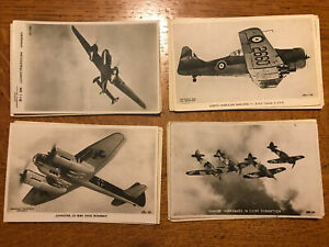 20 X Valentine RPPC & Printed Postcards Of WW2 Airplanes.