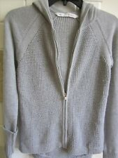 Athleta Knit Hoodie Sweater Gray XXS
