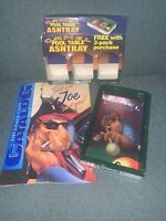 """1992 Vintage """"Camel Lights"""" Solid Plastic Pool Table Ashtray NEW in the Box"""
