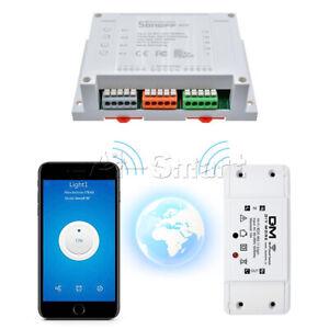 Sonoff 1/4CH 1/4 Channel Wireless WiFi Smart Home Switch Module Remote Control