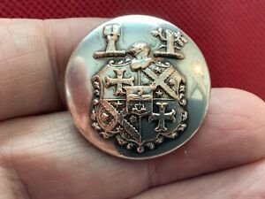 WAKEFIELD CHRISTIE-MILLER COA w DUAL CREST 28mm S/P LIVERY BUTTON FIRMIN 1890-98