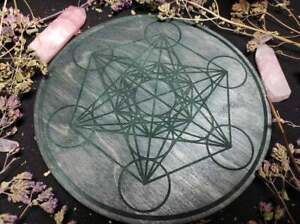 Metatron's cube, chakras crystal grids,sacred geometry for altar piece and decor