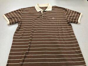 Women's Ralph Lauren Polo Camel/Beige Striped Short Sleeve Golf Shirt Size Mediu