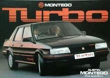 MG Montego Turbo Sales Brochure - Pub No. 3710