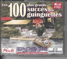 COFFRET 4 CD COMPIL 100 TITRES--100 PLUS GRANDS SUCCES DES GUINGUETTES