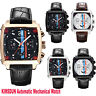 KIMSDUN Herren Leder Luxus Automatik Uhr Armbanduhr Automatic Mechanical Watch